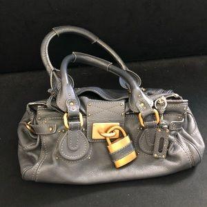 CHLOE Paddington Lock Leather Bag Satchel